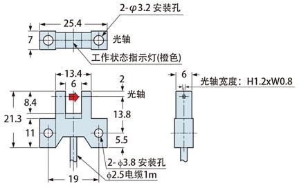 小型微型光电传感器[放大器内置] pm-45系列