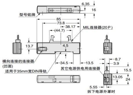 (松下电工) 光纤传感器 简易省配线 mil连接器对应连接用传感器单元sc